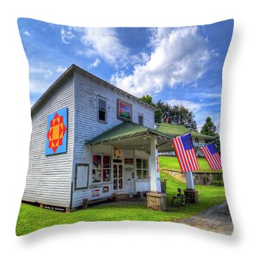 Americana Throw Pillow by Dale R Carlson