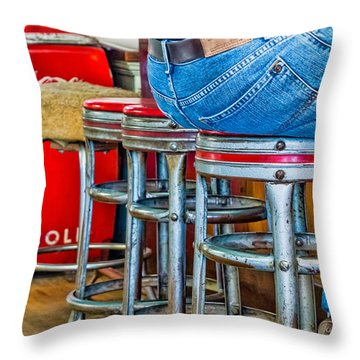 Americana Break Time Throw Pillow