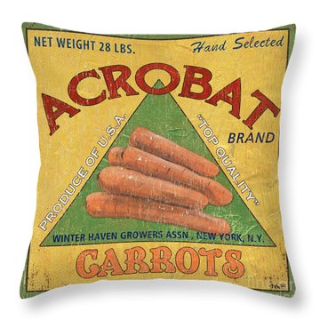 Americana Vegetables 2 Throw Pillow