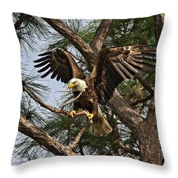 America's Bird Throw Pillow