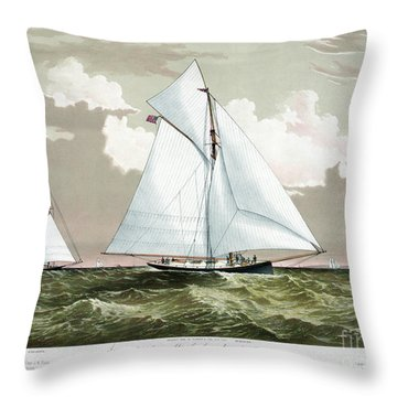 Americas Cup, 1881 Throw Pillow