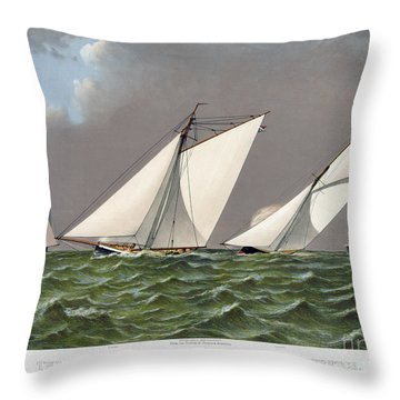Americas Cup, 1885 Throw Pillow