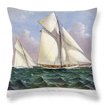 Americas Cup, 1886 Throw Pillow