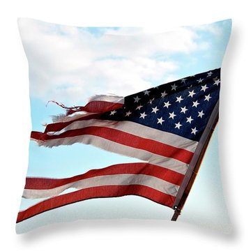 America's Liberty Prevails Throw Pillow by Loriannah Hespe