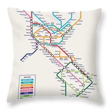 London Tube Throw Pillows