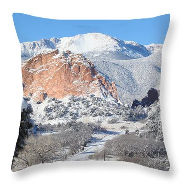 America's Mountain Throw Pillow by Eric Glaser