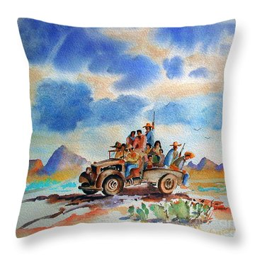 America's New Breed Throw Pillow