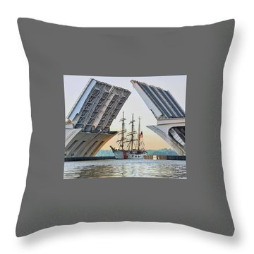 America's Tall Ship Throw Pillow