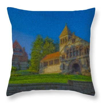 Ames Hall And Ames Free Library Throw Pillow