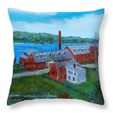 Amesbury Hat Shop Throw Pillow