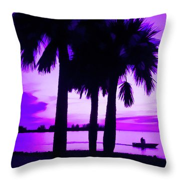 Throw Pillow featuring the photograph Amethyst Beach Sunset by Aimee L Maher Photography and Art Visit ALMGallerydotcom