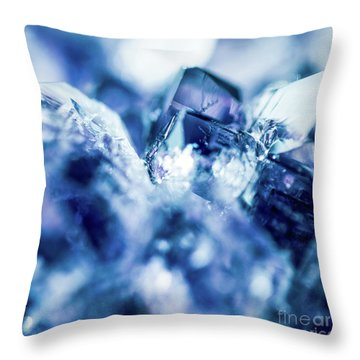 Throw Pillow featuring the photograph Amethyst Blue by Sharon Mau
