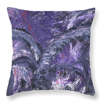 Amethyst Is The Color Of Your Energy Throw Pillow