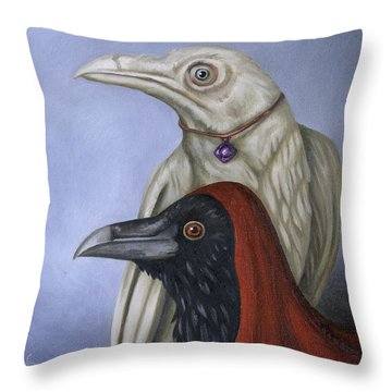 Throw Pillow featuring the painting Amethyst by Leah Saulnier The Painting Maniac