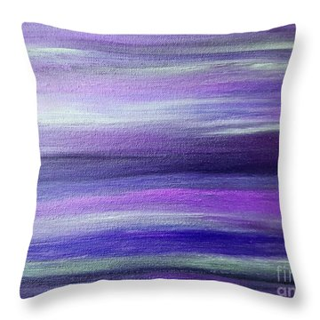 Amethyst Mirage  Throw Pillow