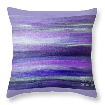 Amethyst Mirage  Throw Pillow by Rachel Hannah
