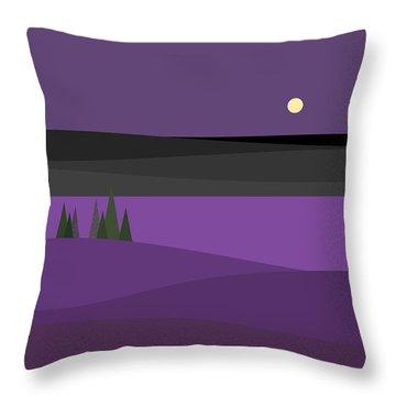 Amethyst Night Throw Pillow
