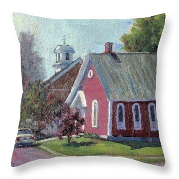 Amherst Chapel Throw Pillow