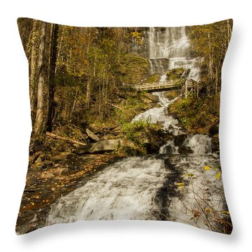 Amicola Falls Gushing Throw Pillow