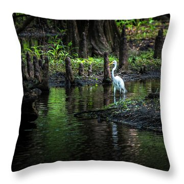 Amidst The Knees Throw Pillow