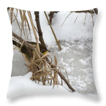 Amidst The Reeds Throw Pillow