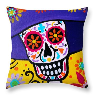 Amiga Catrina Smile Throw Pillow