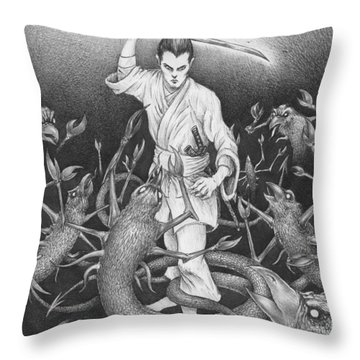Amikiri Throw Pillow