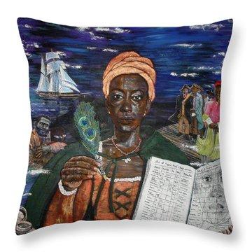 Aminata's Book Of Negroes Throw Pillow