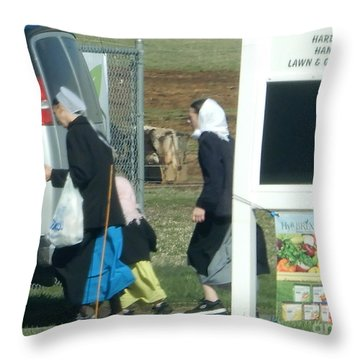 Amish Auction Throw Pillow