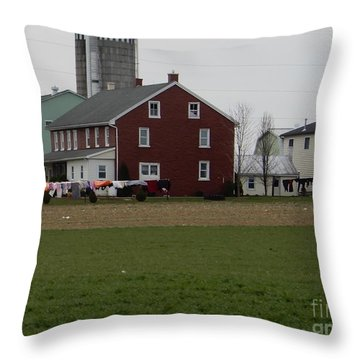 Amish Homestead 7 Throw Pillow