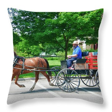Amish Merchant 5671 Throw Pillow by Guy Whiteley