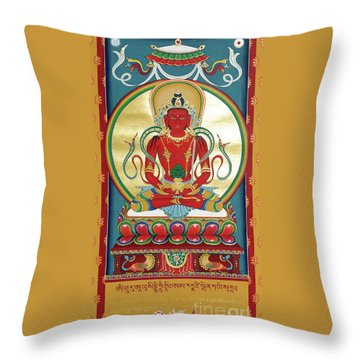 Amitayus Throw Pillow