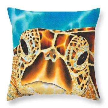 Amitie Sea Turtle Throw Pillow