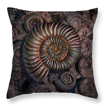 Ammonite 1 Throw Pillow