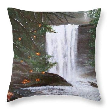 Ammonite Falls Throw Pillow