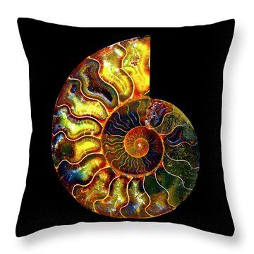 Ammonite Fossil - 8322-3 Throw Pillow