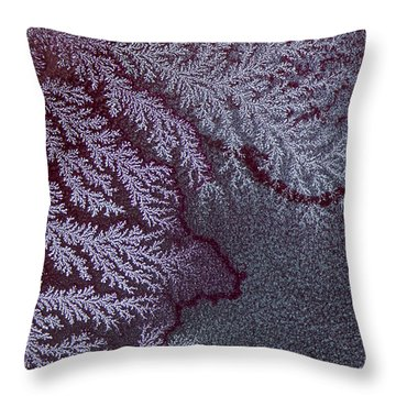 Ammonium Chloride Crystal Throw Pillow