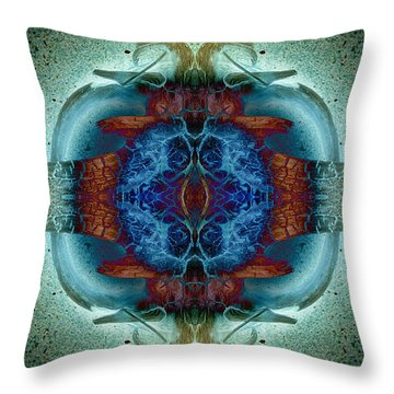 Throw Pillow featuring the photograph Amoebic Implosion by WB Johnston