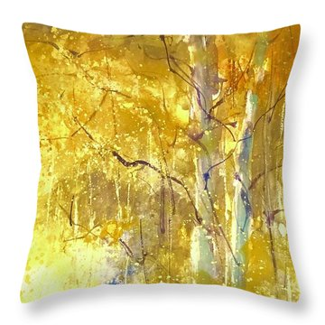Among The Aspens Throw Pillow