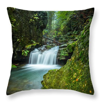 Among The Green Rocks Throw Pillow