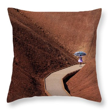 Among The Painted Hills Throw Pillow