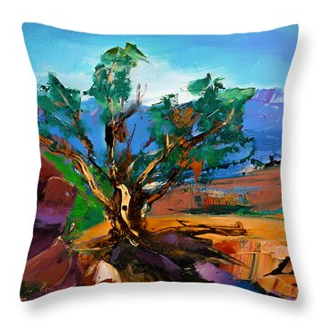 Among The Red Rocks - Sedona Throw Pillow