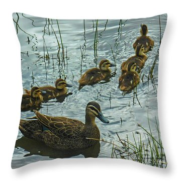 Throw Pillow featuring the photograph Among The Reeds by Mark Blauhoefer
