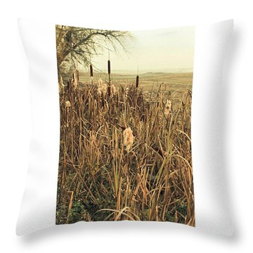 *among The Reeds  #landscape Throw Pillow