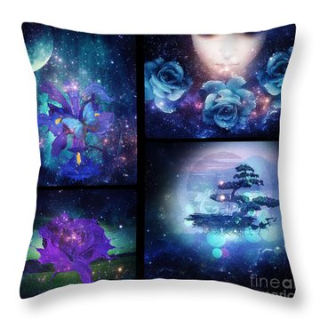Among The Stars Series Throw Pillow by Mo T