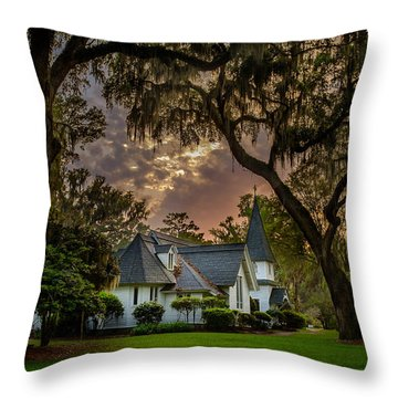 Amongst Mighty Oaks Throw Pillow