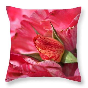 Amongst The Rose Petals Throw Pillow