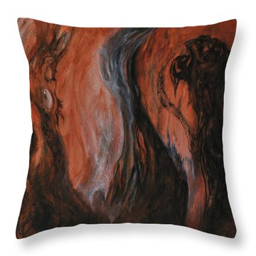 Amongst The Shades Throw Pillow