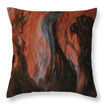 Amongst The Shades Throw Pillow by Christophe Ennis