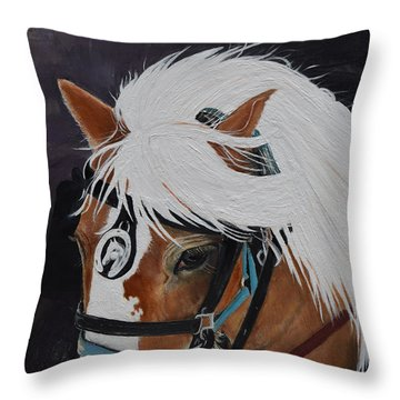Amos - Haflinger - Horse Throw Pillow